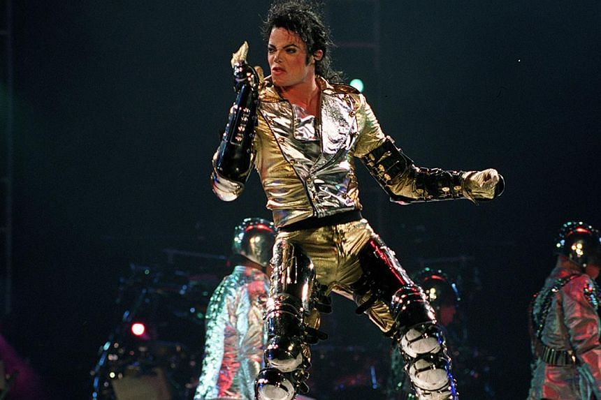 Pop legend Michael Jackson in concert at the National Stadium on Oct 25, 1996. -- PHOTO: ST FILE