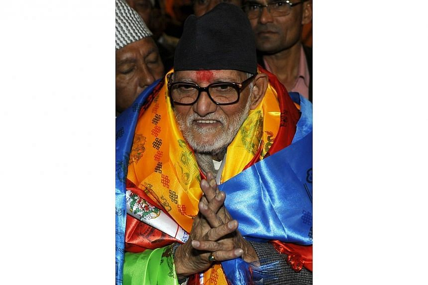 Nepalese Prime Minister Sushil Koirala is suffering from lung cancer, the country's information minister said on Thursday, June 26, 2014, contradicting earlier claims by his party that doctors had ruled out the illness. -- PHOTO: AFP