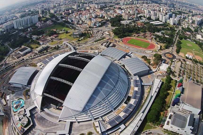 The Sports Hub, including the iconic new National Stadium at Kallang.Tanjong Rhu View will be closed to traffic between 5pm and 8pm on Friday, June 27, 2014, for the Sports Hub Community Open House and Sea Games One Year Countdown Walk-A-Jog, s