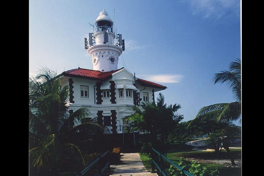 The Sultan Shoal Lighthouse was built in 1895 and is loacted on the island of Selat Jurong. -- PHOTO: PSA