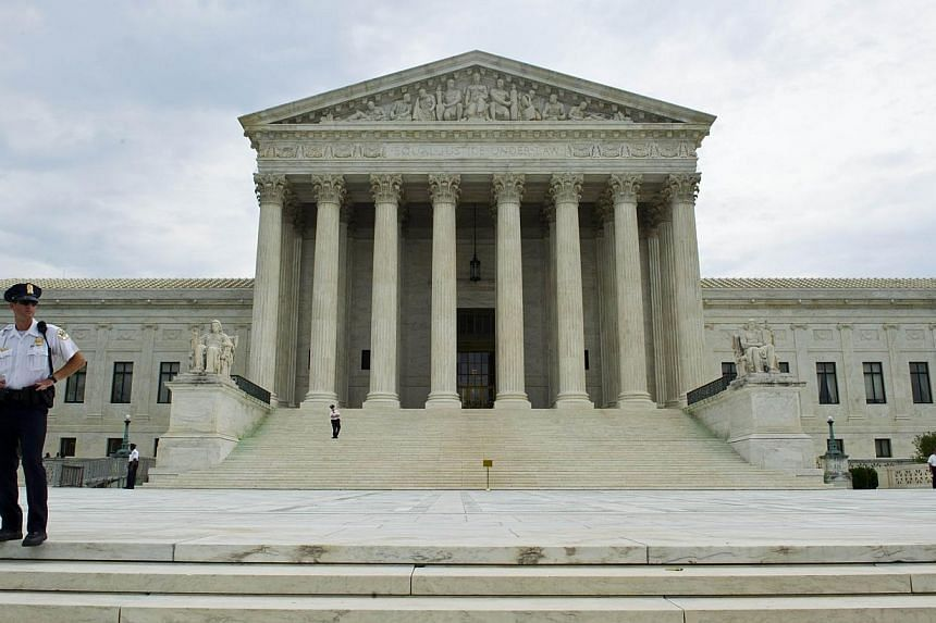A startup which captures over-the-air television for Internet viewing violates copyright laws, the US Supreme Court said on Wednesday in a landmark ruling affecting the tech and TV industries. -- PHOTO: AFP