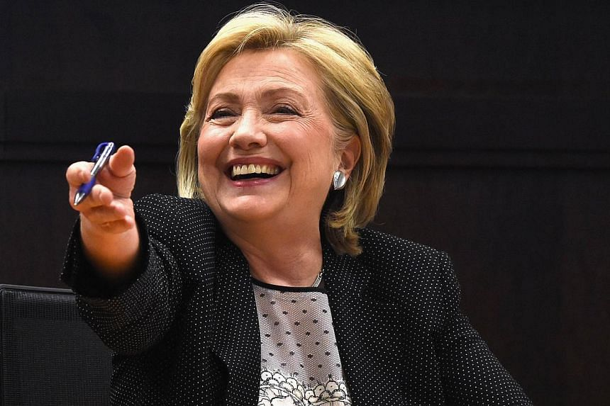 Hillary Rodham Clinton, attends her Book Signing For Hard Choices at Barnes & Noble bookstore at The Grove on June 19, 2014. -- PHOTO: AFP