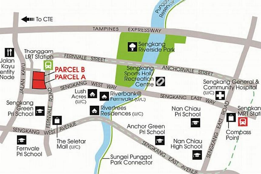 Location Plan for Land Parcels A & B at Fernvale Road. -- PHOTO: URA