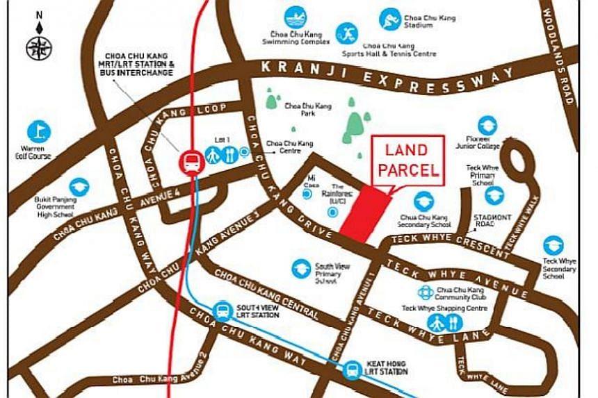 Location Plan for Land Parcel at Choa Chu Kang Drive. -- PHOTO: HDB