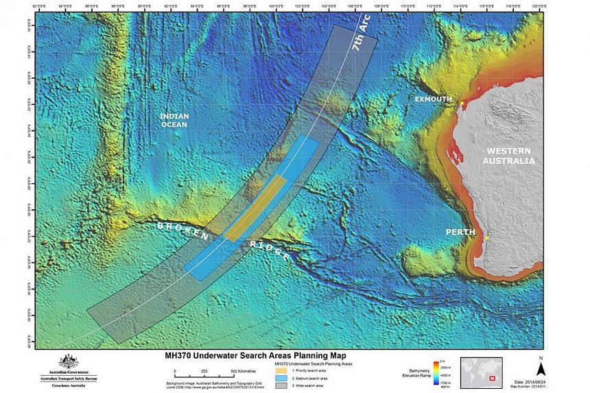 The new search area for missing Malaysia Airlines flight MH370is located in the Southern Indian Ocean and, like previous searches, is located along the seventh arc – a thin but long line that marks where the missing aircraft last communicated