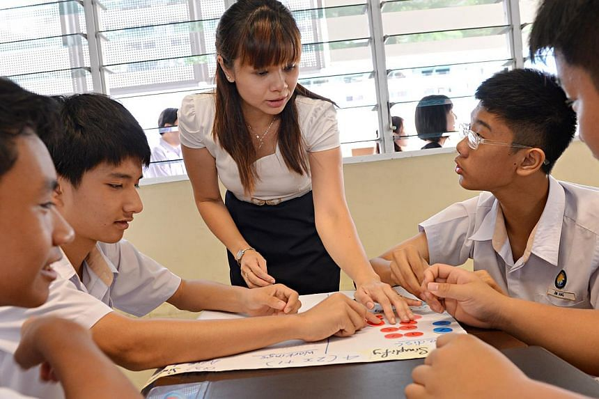 The OECD survey found that teachers here spent almost twice the amount of time on marking and administrative work than their peers overseas. Singapore teachers The Straits Times spoke to cited large class sizes - 36 students compared with the global