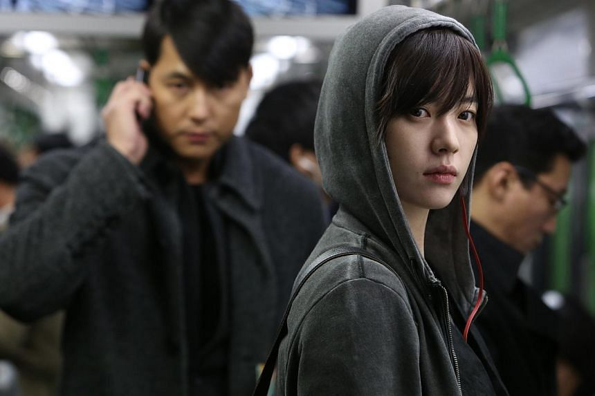 Cold Eyes (2013), starring Jung Woo Sung (left) and Han Hyo Joo, is one of Spackman Entertainment Group's hit films. The firm made a $3.3 million profit in the last financial year.