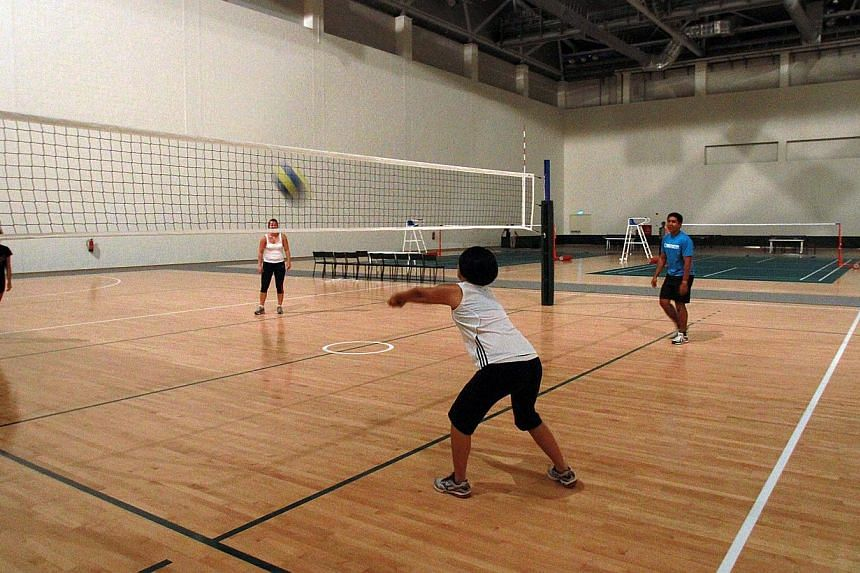 Try nine different sports activities at the OCBC Arena, a multi- purpose indoor hall, during the open house on Saturday. These are: badminton, boxing, judo, netball, silat, table tennis, taiji, taekwondo and volleyball. -- ST PHOTO: LAU FOO
