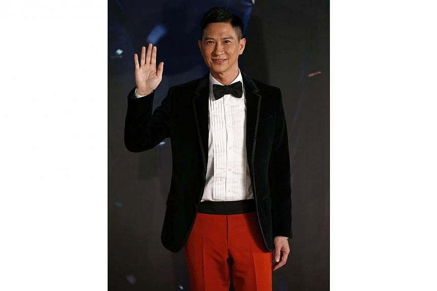 Hong Kong actor Nick Cheung at the 33rd Hong Kong Film Awards in Hong Kong on April 13, 2014. Cheung has a simple goal for his debut directorial feature film, Hungry Ghost Ritual. -- PHOTO: REUTERS