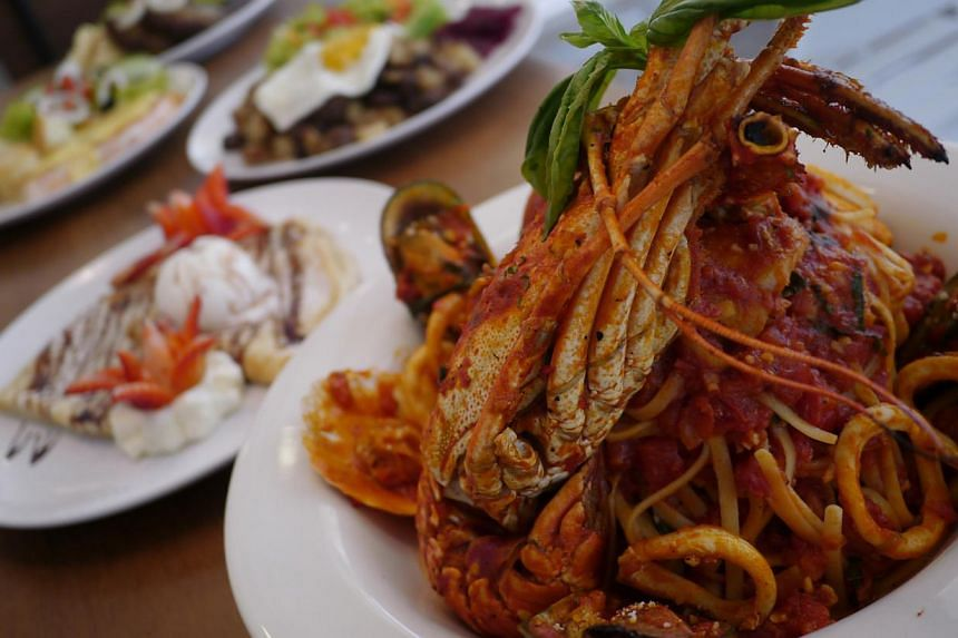 Seafood combo with lobster from Fika, a halal swedish eatery. -- PHOTO: FIKA