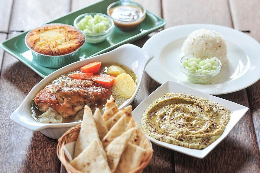 A sample of Bluespoon restaurant's Ramadan special menu, which allows customers to choose from a list of items. -- ST PHOTO: STEFFI KOH
