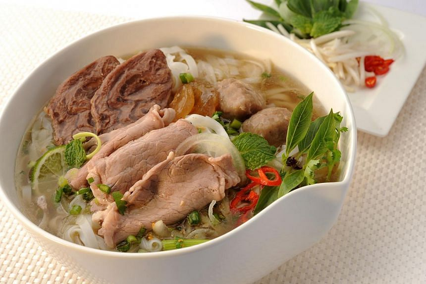 Pho with sliced beef, brisket and beef balls from So Pho. -- PHOTO: KATRINA HOLDINGS
