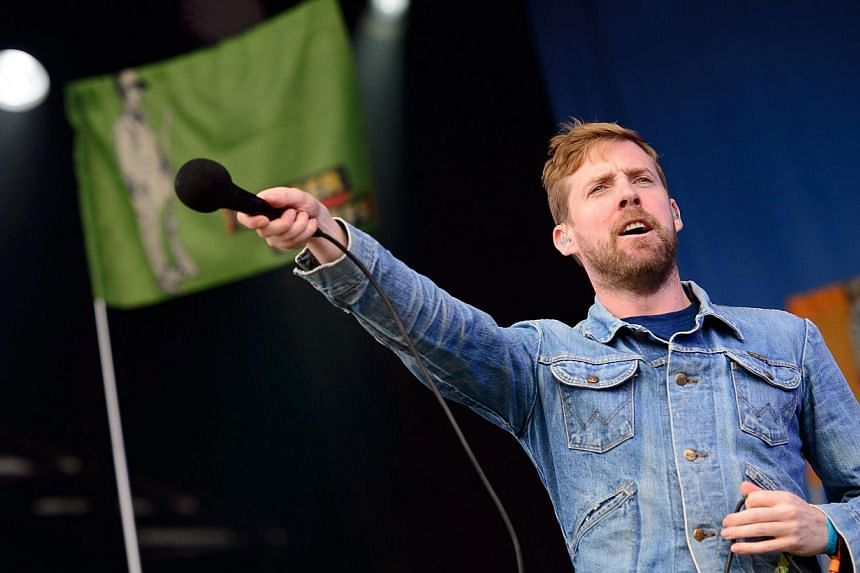 Ricky Wilson of British rock group The Kaiser Chiefs performs on the Other Stage, on the first official date of the Glastonbury Festival of Music and Performing Arts on Worthy Farm in Somerset, south-west England, on June 27, 2014. -- PHOTO: AFP