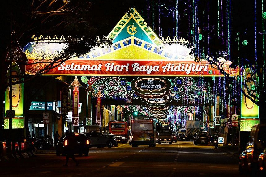 This year's Hari Raya Light-Up stretches over 1.3km and covers Sims Avenue, and Geylang and Changi roads. Lining the streets are arches featuring traditional Malay motifs and architecture.