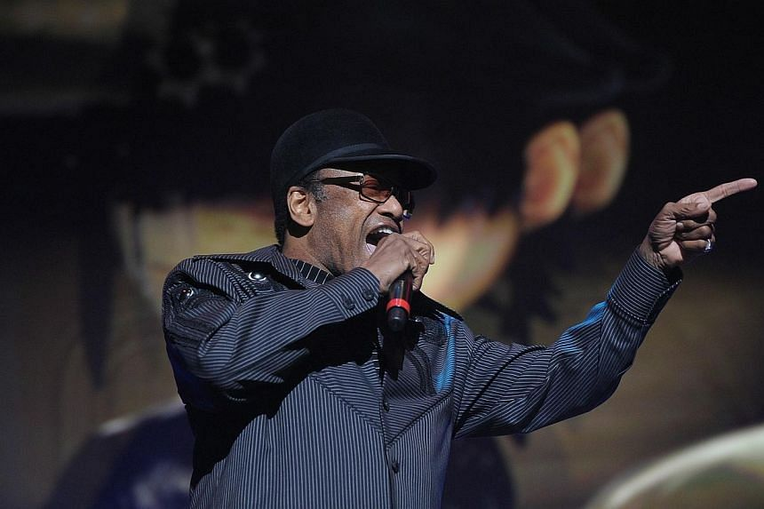 Bobby Womack performing at Madison Square Garden in New York City on Oct 8, 2010. - PHOTO: AFP