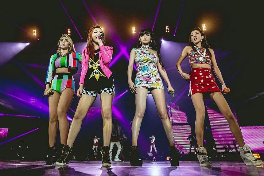 K-pop girl group 2NE1, from left to right CL (Lee Chaerin); Minzy (Gong Minji), Bom (Park Bom); Dara (Sandara Park). -- PHOTO: MARCUS LIN