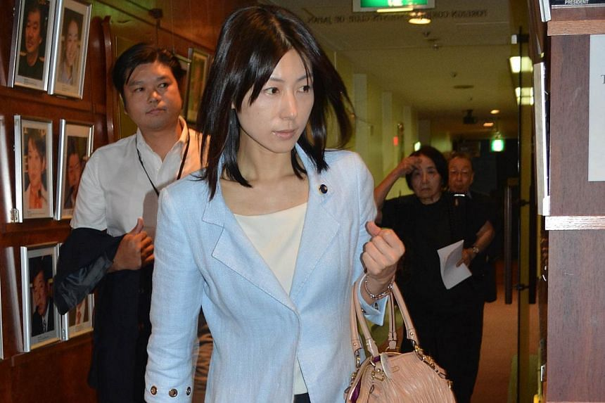 Opposition politician Ayaka Shiomura, 35,single woman, when she asked about steps to get women to have babies.