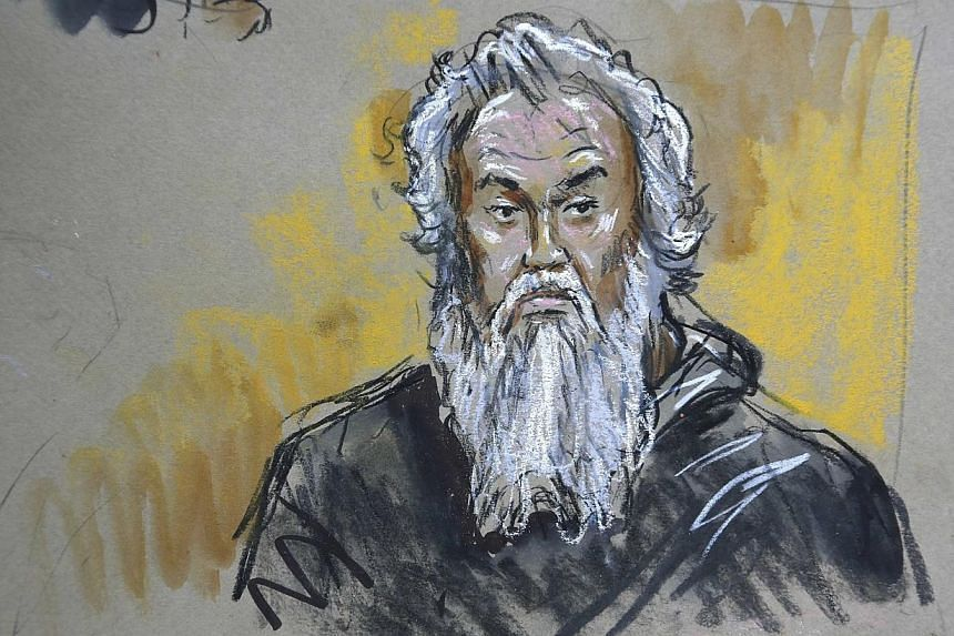 A courtroom sketch depicts Ahmed Abu Khatallah in U.S. federal court in Washington on June 28, 2014. The suspected ringleader of a deadly attack on the US mission in the Libyan city of Benghazi pleaded not guilty during a brief court appearance