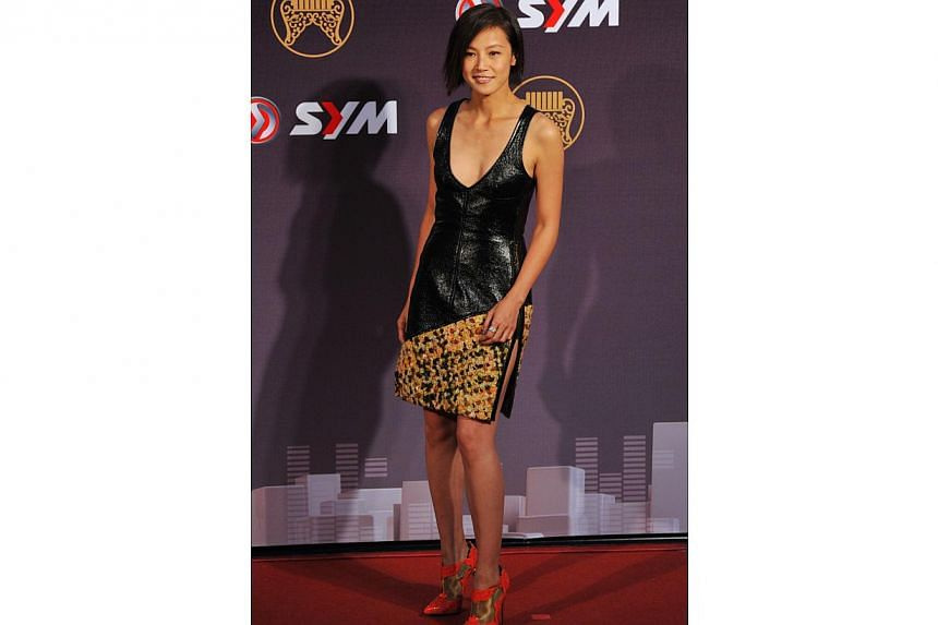 Hong Kong singer Denise Ho arrives at the 25th Golden Melody Awards in Taipei on June 28, 2014. -- PHOTO: AFP