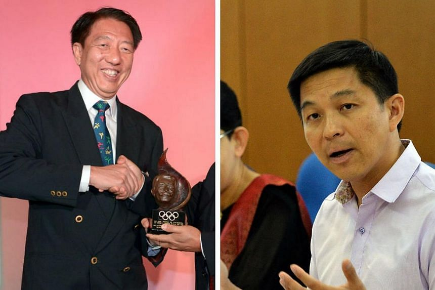 Deputy Prime Minister Teo Chee Hean (L) is succeeded by Manpower Minister Tan Chuan-Jin as president of the Singapore National Olympic Council (SNOC). -- ST PHOTO: LIM SIN THAI/MOHD OSMAN SALLEH FOR BERITA HARIAN