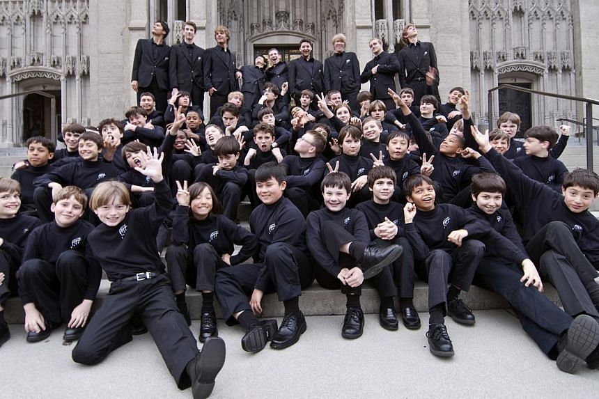Gift of music: The 51 Pacific Boychoir boys will bring their diverse repertoire to Singapore. -- PHOTO: PACIFIC BOYCHOIR ACADEMY