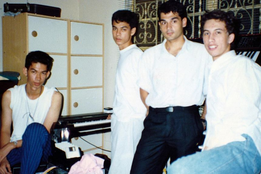 Soosay (second from left) with Breaking Glass circa 1987. -- PHOTO: COURTESY OF LEONARD SOOSAY