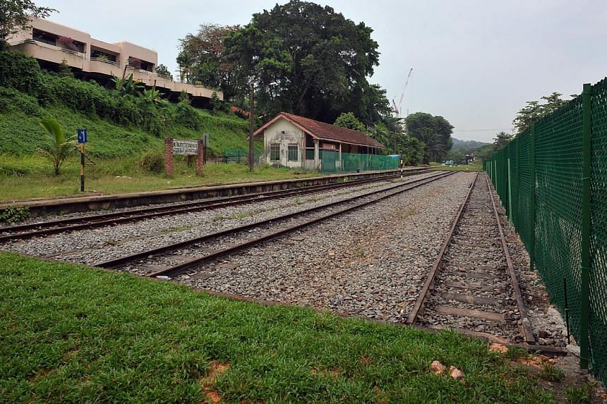 The rail corridor at the former KTM Bukit Timah railway station. National water agency PUB plans to lay a new water main under the southern half of the Rail Corridor to meet future water demand in the city area. -- PHOTO: ST FILE