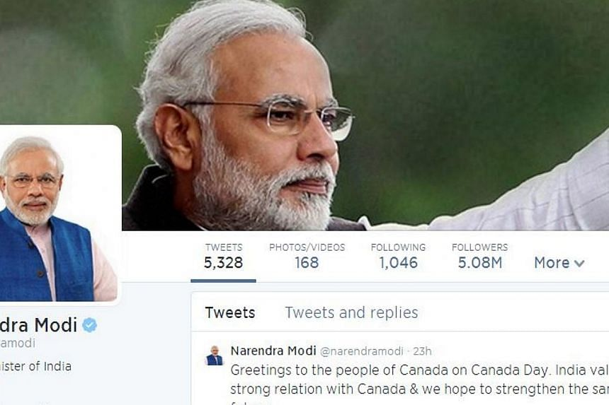 India's new Prime Minister Narendra Modi has permitted Twitter unprecedented access to his administration in a drive to put social media at the heart of government, the US Internet company said. -- PHOTO: TWITTER