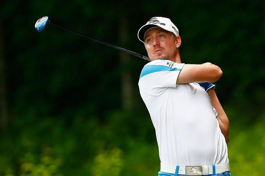 Jonas Blixt of Sweden watches his tee shot on the 15th hole during the first round of the Travelers Championship golf tournament at the TPC River Highlands on June 19, 2014 in Cromwell, Connecticut.Golf's US PGA Tour heads to West Virginia this