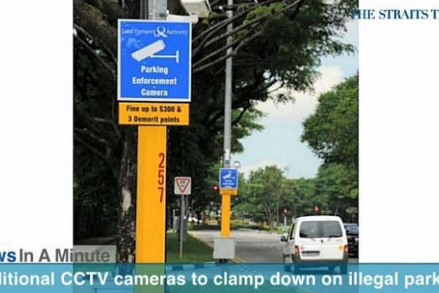 In today's The Straits Times News In A Minute video, we look at how CCTV cameras will be installed in 10 more locations, such as near Ang Mo Kio and Kranji MRT stations. -- PHOTO: SCREENGRAB FROM VIDEO