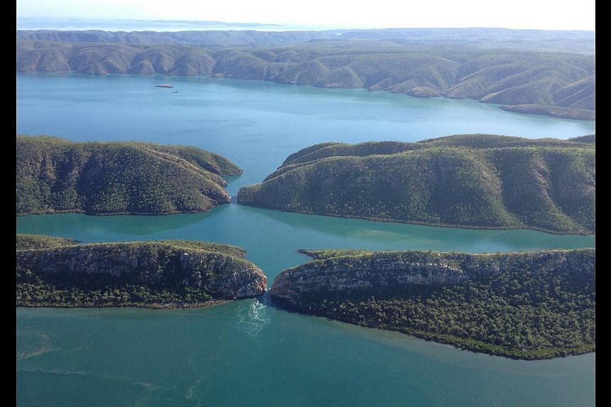 Horizontal Falls is a peculiar natural phenomenon in which water gushes horizontally between two gaps in a mountain ridge. -- ST PHOTO: J PEARLMAN