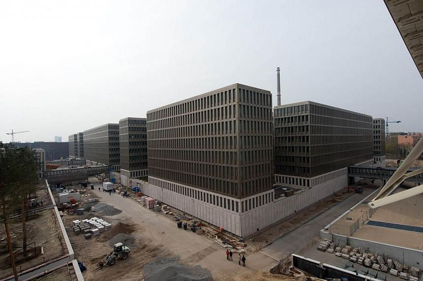 A photo taken on March 31, 2014, shows the new headquarters of the German Federal Intelligence Service (BND) during construction works in Berlin. German ministers on Sunday called for a swift response from the United States to allegations of spy
