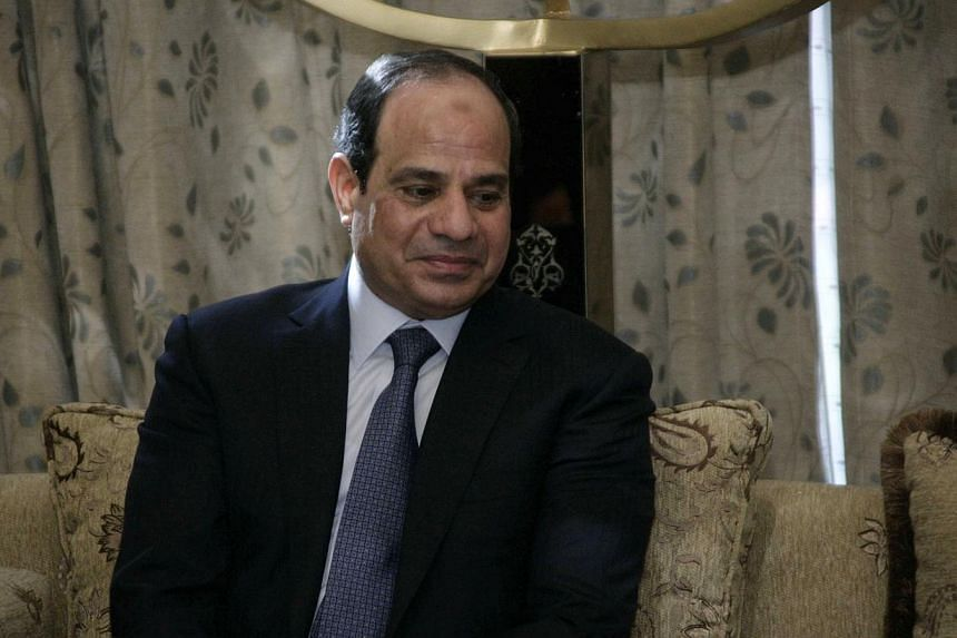 A picture taken on June 27, 2014 shows Egyptian President Abdel Fattah al-Sisi during a meeting with Sudanese President in the Sudanese capital, Khartoum.Egypt's President Abdel Fattah al-Sisi warned the independence of Iraq's Kurdish region wo