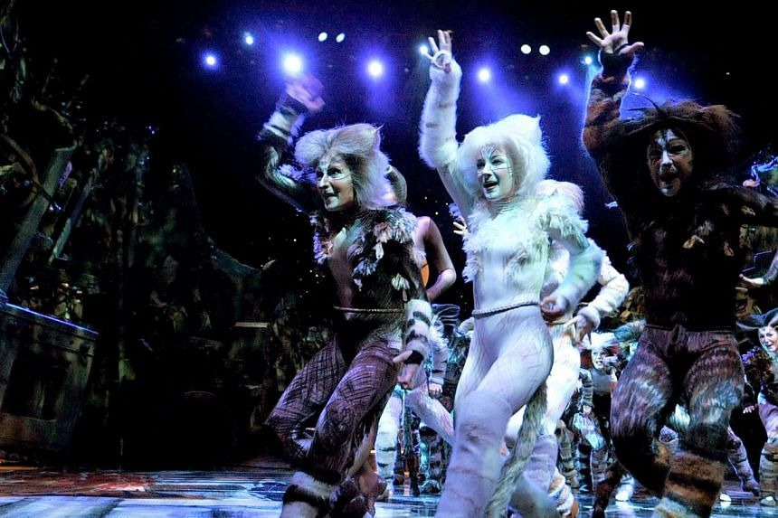 Broadway musical Cats at the Esplanade Theatre in Singapore. Andrew Lloyd Webber is preparing to bring his 1980s hit musical Cats back to London's West End for a limited run. -- ST PHOTO: JAMIE KOH