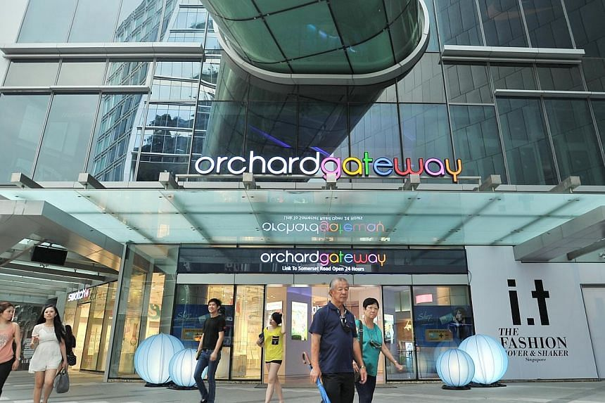 Orchard Gateway shopping mall.Private school M2 Academy, which opens a campus today in Orchard Gateway to offer University of South Australia degree courses, is also going big on nurturing job-ready graduates. -- PHOTO: ST FILE