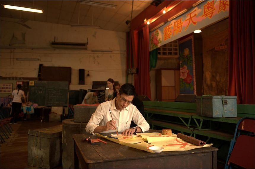 In Hungry Ghost Ritual, Cheung (left) plays a man who takes over his father's Cantonese opera troupe and begins to see supernatural things as it prepares to open for the Hungry Ghost Festival. Award-winning actor Nick Cheung (centre) both directs and