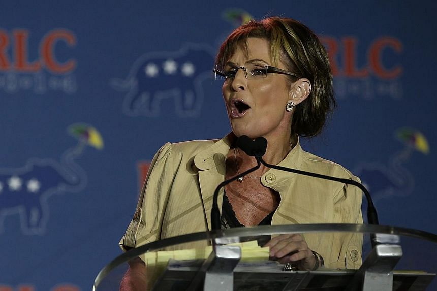 Former Alaska governor Sarah Palin speaks during the 2014 Republican Leadership Conference on May 29, 2014 in New Orleans, Louisiana. She called for President Barack Obama's impeachment on Tuesday over his handling of a growing immigration crisis.