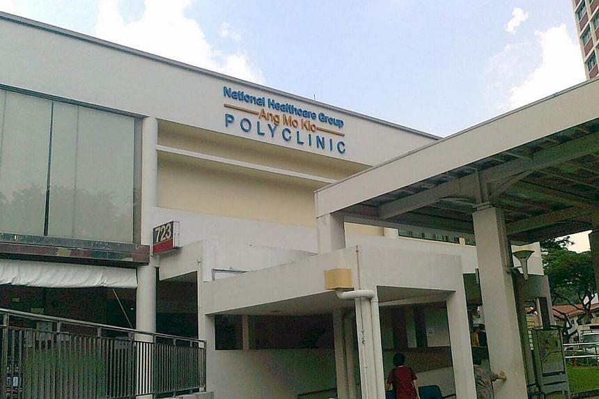 Ang Mo Kio polyclinic has come out tops among Singapore's 18 polyclinics in the latest patient satisfaction survey. --SHIN MIN PHOTO