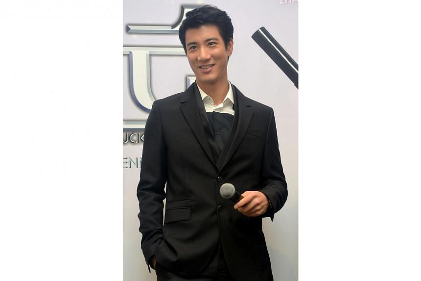 Hong Kong singer-actor Wang Lee Hom at a press conference for his movie titled My Lucky Star, held at Marina Bay Sands on Sep 13, 2013. -- PHOTO: THE NEW PAPER FILE