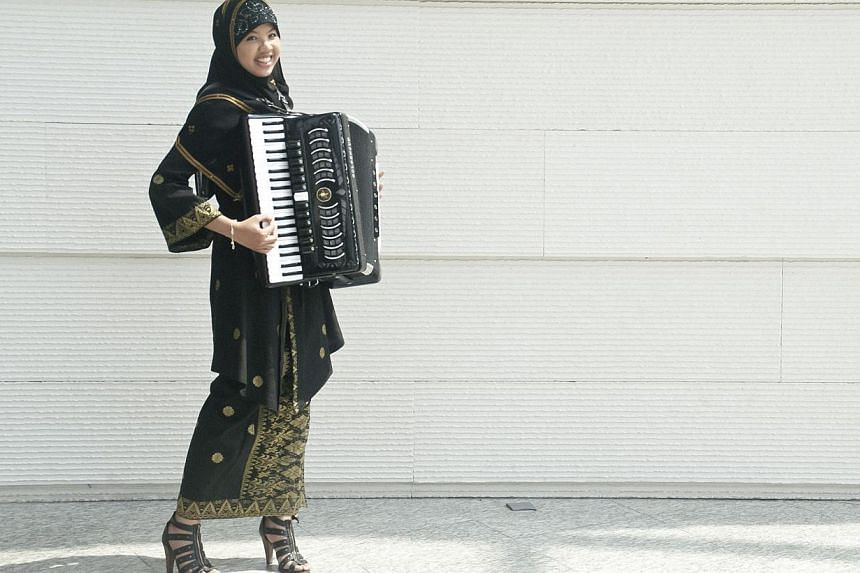 Artistic director and conductor Wong Kah Chunformed Asian Contemporary Ensemble because of his passion for Asian cultures and heritage. The group includes pianist Abigail Sin, accordionist Syafiqah 'Adha Sallehin (above), tabla player Govin Tan and