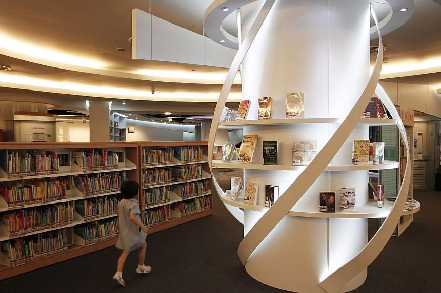 The Sengkang public library. The Straits Times has learnt that there were at least three more children's books that were also recently banned. -- PHOTO: ST FILE