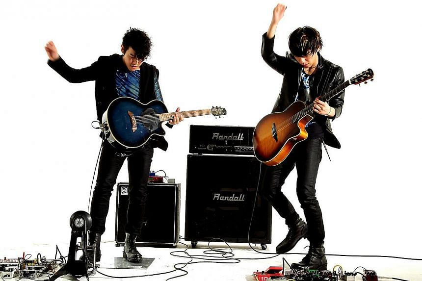 Japanese rock duo TarO&JirO. -- PHOTO: MODE ENTERTAINMENT