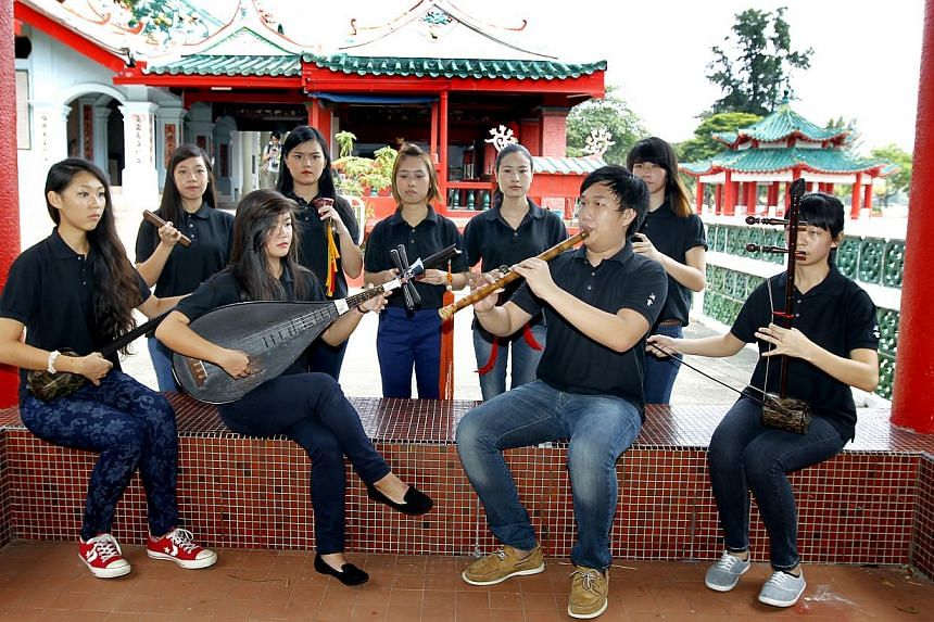 Learn more about the history of Singapore's islands, such as St John's Island, which used to be a quarantine centre. Siong Leng Musical Association (above) will perform on Kusu Island at Singapore HeritageFest 2014. -- PHOTO: CHEW SENG KIM