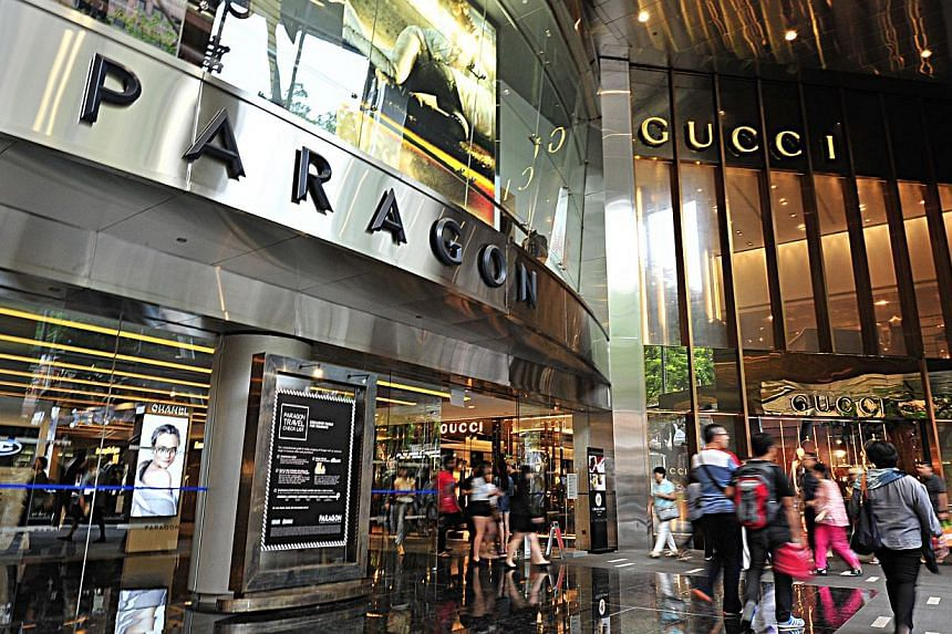 Paragon Mall at Orchard Road.Full occupancy and healthy rental reversions helped SPH Reit beat forecasts in its third quarter. -- PHOTO: ST FILE