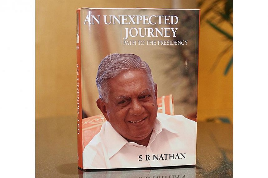 A Tamil-language version of former President S R Nathan's memoirs was launched at the Sri Srinivasa Perumal Temple in Little India on Saturday morning. -- PHOTO: MYPAPER FILE
