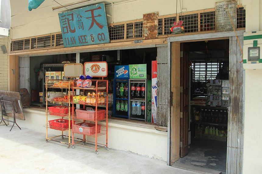 Mr Foo Chee Kow and his wife Jessie Lim converted provision shop Tian Kee & Co. (above) into a cafe of the same name, and serve dishes such as all-day breakfast, which comes with a roti prata for a local twist. -- PHOTO: LIANHE WANBAO
