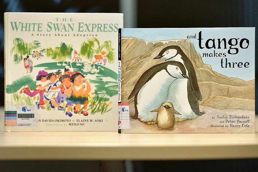 Two of the three titles taken off the shelves by the National Library Board after receiving queries over whether they were suitable for children.