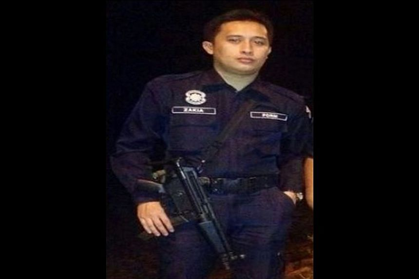 Photo ofZakiah Aleip.Policeman Zakiah Aleip who was kidnapped by Filipino gunmen in Sabah on Saturday, has telephoned his wife on Sunday night to say he was alive. -- PHOTO: THE STAR / ASIAN NEWS NETWORK