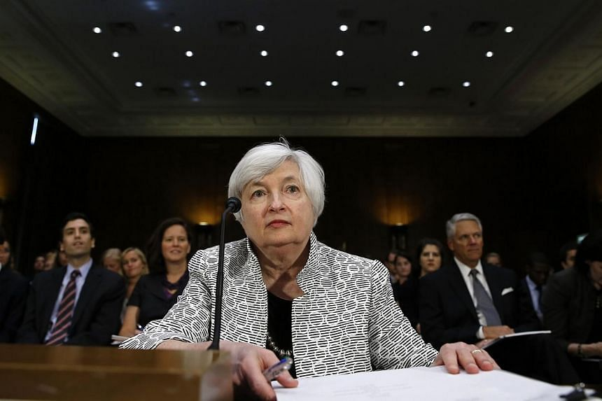 Federal Reserve Chair Janet Yellen testifies before the Senate Banking Committee on Capitol Hill in Washington on July 15, 2014. The Federal Reserve could raise its interest rate sooner than expected as the jobs market improves, Fed chairman Jan