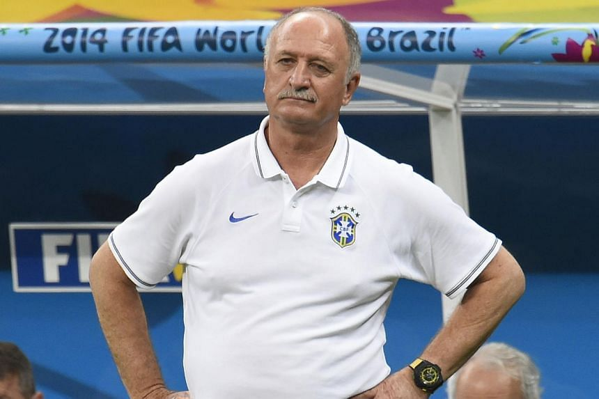 Brazil's Football Confederation (CBF) on Monday said it had accepted coach Luiz Felipe Scolari's offer to resign along with his backroom team. -- PHOTO: AFP